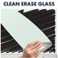 "Desktop Magnetic Glass Dry-Erase Panel, White, 17"" x 23"""