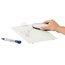 """Quartet Glass Dry-Erase Desktop Easel, 9"""" x 11"""", White Surface, Frameless"""