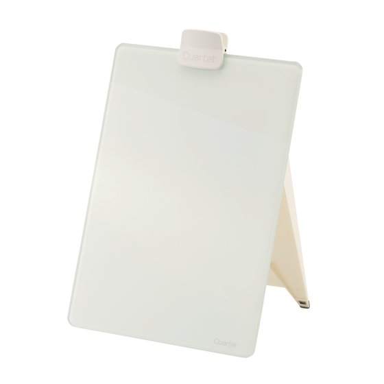 "Quartet Glass Dry-Erase Desktop Easel, 9"" x 11"", White Surface, Frameless"