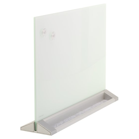 "Quartet® Desktop Magnetic Glass Dry-Erase Panel, White, 17"" x 23"""