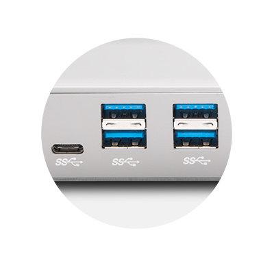 5 USB-poorten