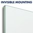 "InvisaMount Magnetic Glass Dry-Erase Board, 39"" x 22"""