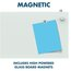 "Infinity Magnetic Glass Dry-Erase Cubicle Board, 30"" x 18"""