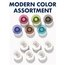 Glass Board Magnets, Large, 12 Pack, Assorted Colors