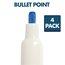Low Odor Dry-Erase Markers, Bullet Tip, Assorted Vivid Colors, 4 Pack