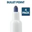 Low Odor Dry-Erase Markers, Bullet Tip, Assorted Classic Colors, 4 Pack