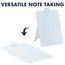 """Glass Dry-Erase Desktop Easel, 9"""" x 11"""", White Surface, Frameless"""
