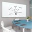 Fusion Nano-Clean Magnetic Whiteboard, 3' x 2', Silver Aluminum Frame