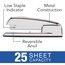 Swingline 747 Polished Chrome Stapler, 25 Sheets, Silver Chrome