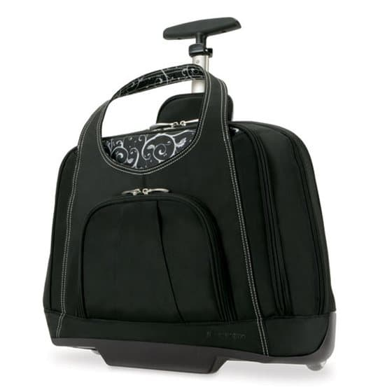 Kensington Contour Balance Notebook Roller Bag in Onyx, Fits Most 15-Inch Notebooks