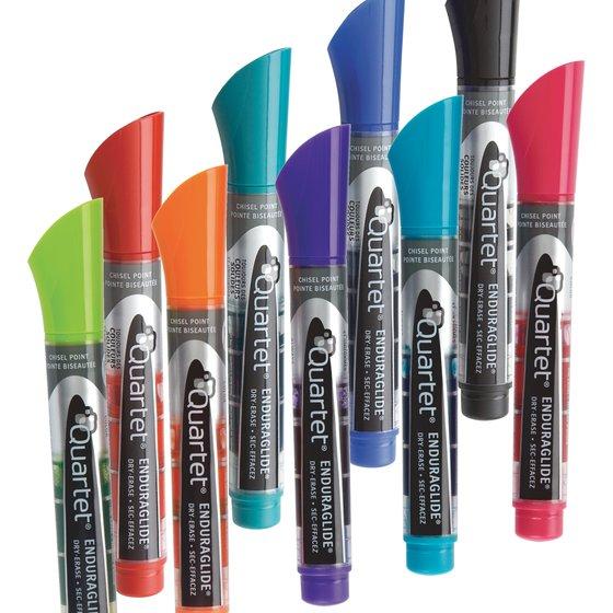 EnduraGlide Dry-Erase Markers, Chisel Tip, Assorted Colors, 12 Pack