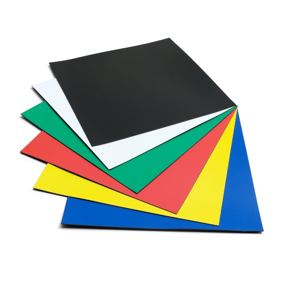 Magnetic Squares 150x150mm Assorted Colours (6)