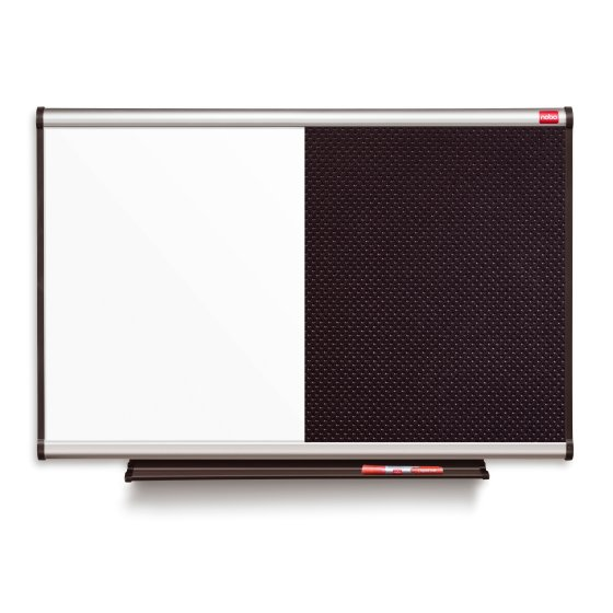 Prestige Combination Black Noticeboard/Whiteboard 900x600mm