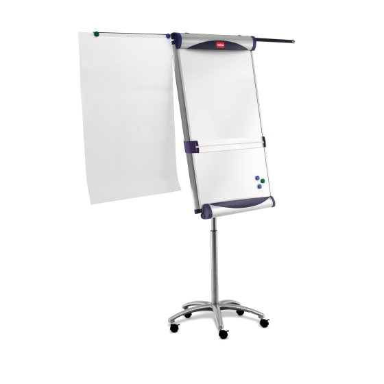 Classic Steel Mobile Magnetic Flipchart Easel with Extending Arms