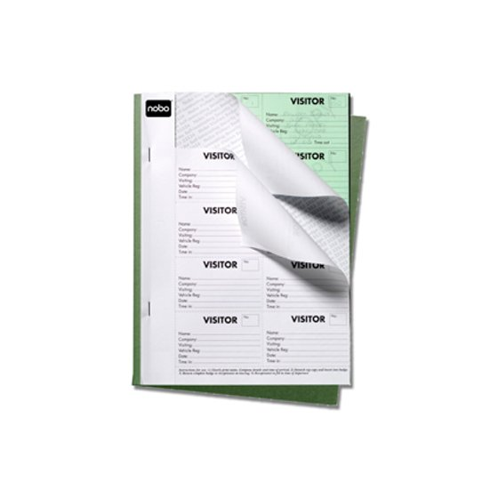 Visitor Badge Book Black, 25 sheets