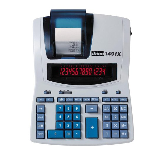 Ibico 1491X Professional Print Calculator White/Blue