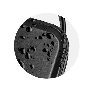 Plastica ABS robustissima, leggera e resistente anche agli spruzzi