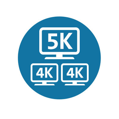 Single 5K / Dual 4K Video Output (via included USB-C to HDMI adapter)