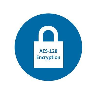 128 ビット AES 暗号化による双方向ワイヤレス