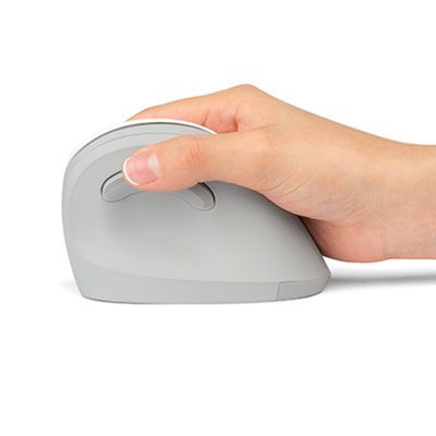 hand in natural handshake position using mouse