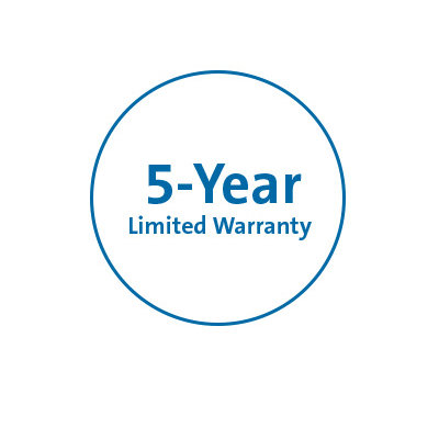 Five-year warranty