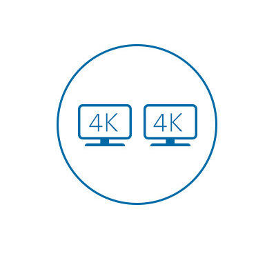 Dual 4K video output (HDMI 2.0 and DP 1.2++ @ 60Hz)