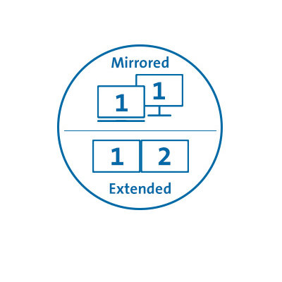 Mirror Monitors or Operate Each Independently