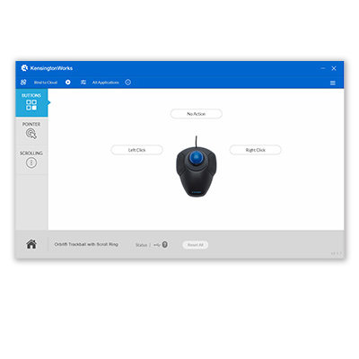 trackball on Kensingtonworks customization software