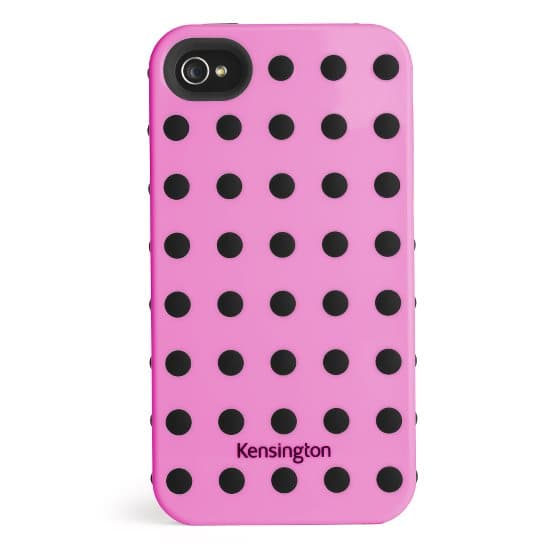 Combination Case for iPhone® 4 & 4S Pink w/Black Dots