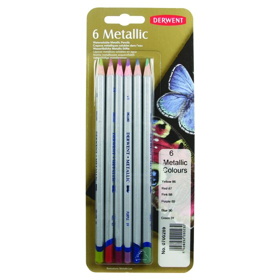 Metallic Coloured Pencil Blister