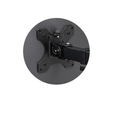 Quick-release VESA® 75/100 mounting plate