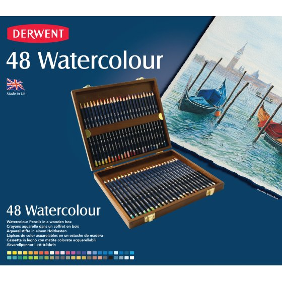 Watercolour Pencils 48 Wooden Box