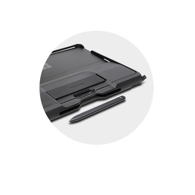 Surface case with slim pen holder