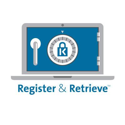 De 4-cijferige code is eenvoudig opnieuw in te stellen met Register & Retrieve