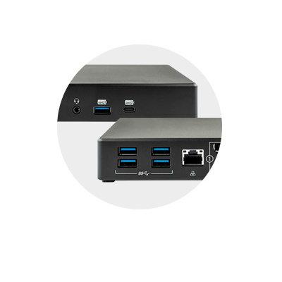 Six USB Ports (USB-A and USB-C)