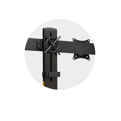 Easy-Grip Adjustment Knob and Quick-Release VESA Mounts.