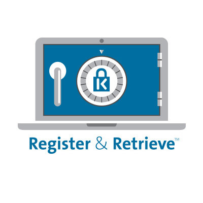 Resettable 4-Wheel Number Code with Register & Retrieve
