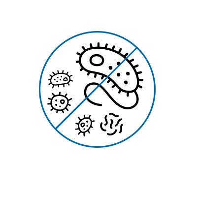 Antimikrobielle Beschichtung (nur matte Seite)