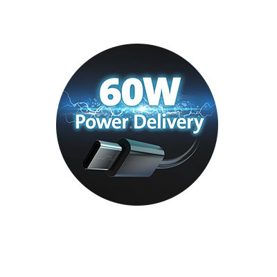 60W Power Delivery