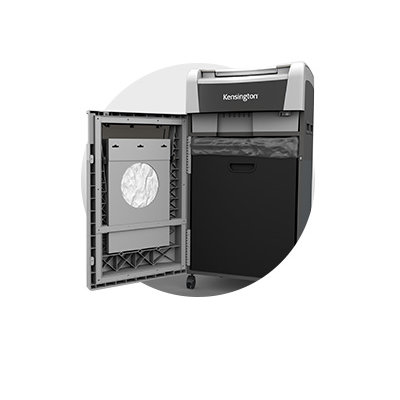 29-Gallon (1,300-Sheet) Bin with Full Indicator and Bag Storage