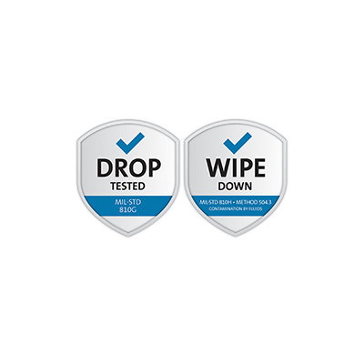 Military-Grade Drop and Wipe Down Protection