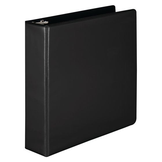 "Mead® Heavy Duty D-Ring View Binder with Extra Durable Hinge, 2"", Black"
