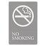 """Quartet® ADA Signs, No Smoking, 6"""" x 9"""", Grade 2 Braille"""