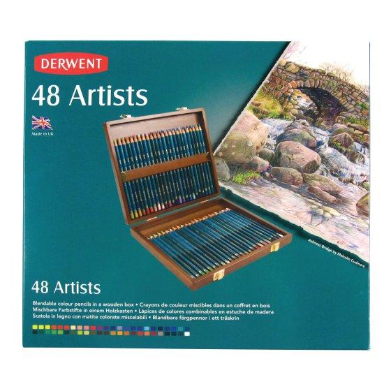Artists Pencils 48 Wooden Box
